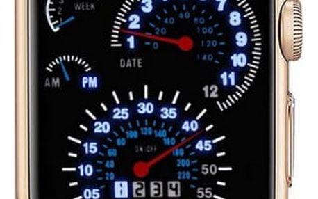 Binární hodinky ve stylu tachometru - 5 barev