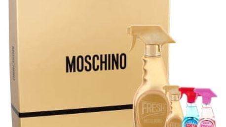 Moschino Fresh Gold Couture dárková kazeta pro ženy parfémovaná voda 50 ml + parfémovaná voda 5 ml + toaletní voda Fresh Couture 5 ml + toaletní voda Fresh Couture Pink 5 ml
