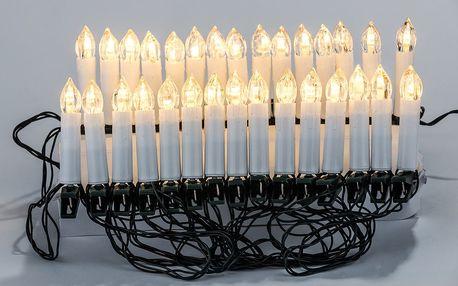 Vánoční světelný LED řetěz Candle Lights, 30 LED