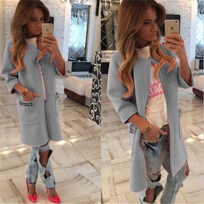 Luxusní dámský cardigan - Šedá barva - velikost č. 5 - dodání do 2 dnů