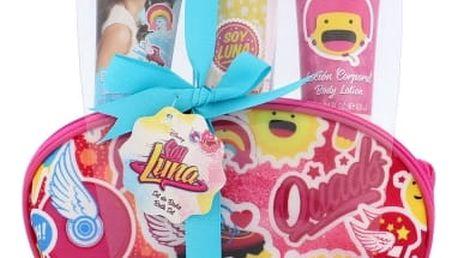 Disney Soy Luna dárková kazeta pro děti tělový závoj 100 ml + tělové mléko 60 ml + sprchový gel 60 ml + kosmetická taška