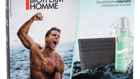 Biotherm Homme Aquapower Oligo Thermal Care dárková kazeta pro muže pánský hydratační gel 75 ml + pouzdro na karty