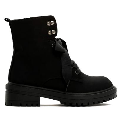 Dámské černé matné kotníkové boty Suzy 8314a