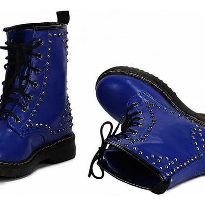 Dámské modré kotníkové boty Metal 114