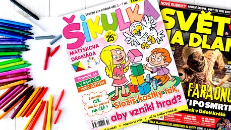 Předplatné časopisů Šikulka a Svět na dlani