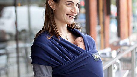 BOBA Nosič dětí / šátek Wrap - Navy Blue