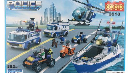 COGO Stavebnice Mobilní policejní centrum - 862 ks