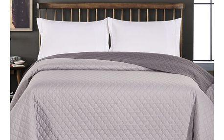 DecoKing Přehoz na postel Axel šedá, 220 x 240 cm
