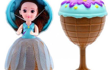 Vonící plastová panenka/Cupcake - zmrzlinový pohár 16cm