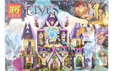 LELE ELVES Stavebnice Skyra a tajemný hrad pod nebem - 817 ks