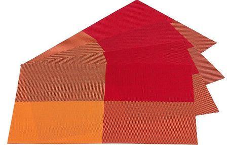 Jahu Prostírání DeLuxe oranžová, 30 x 45 cm, sada 4 ks