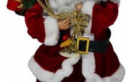 Nexos 5938 Vánoční dekorace - tančící a zpívající Santa Claus
