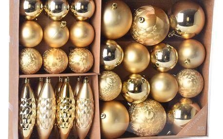 Sada vánočních ozdob Terme zlatá, 31 ks