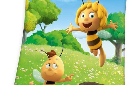 Herding Dětská deka Včelka Mája, 130 x 160 cm