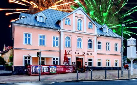 6denní vánoční nebo silvestrovský pobyt pro 2 v hotelu Villa Dino*** v Mariánkách