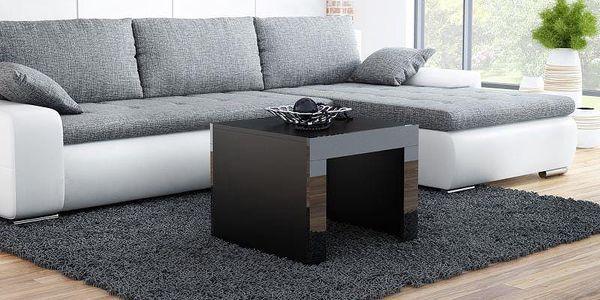 Konferenční stolek TESS čtverec, černá/černá