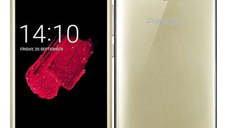 Mobilní telefon Prestigio Muze D5 LTE (PSP5513DUOGOLD) zlatý