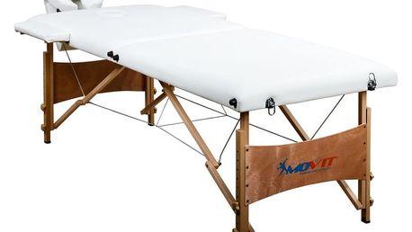 MOVIT DELUXE 1295 Přenosné masážní lehátko bílé 185 x 80 cm