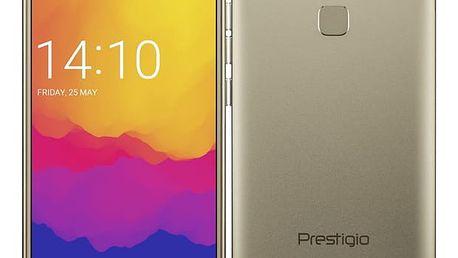 Mobilní telefon Prestigio Grace B7 Dual SIM zlatý + dárek (PSP7572DUOGOLD)
