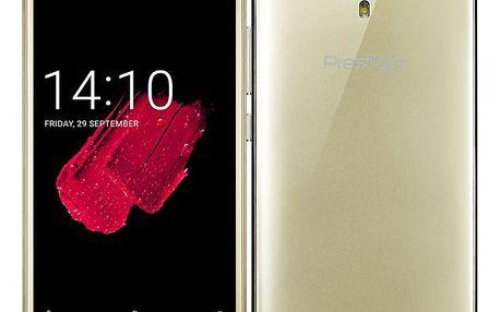 Mobilní telefon Prestigio Muze D5 LTE zlatý + dárek (PSP5513DUOGOLD)