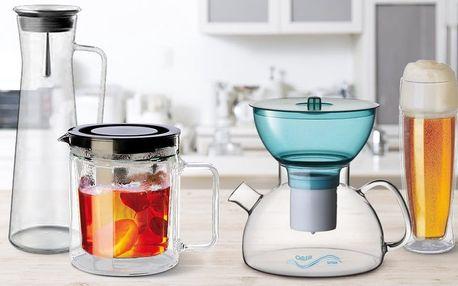 Konvice, karafy a sklenice z varného skla Simax