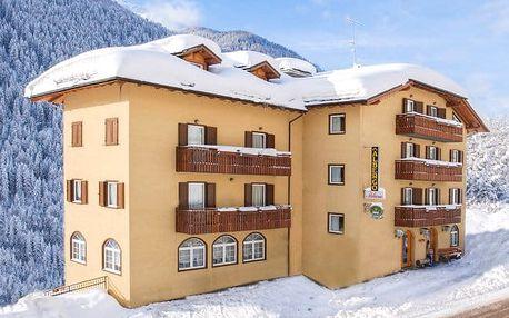 Italské Alpy v rodinném hotelu u skibusu