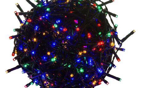 Voltronic 39457 Vánoční LED osvětlení 20 m - barevné 200 LED - zelený kabel