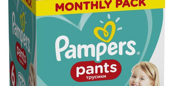 PAMPERS Pants 6 Active Baby Dry 132 ks (15+ kg) MĚSÍČNÍ ZÁSOBA - plenkové kalhotky