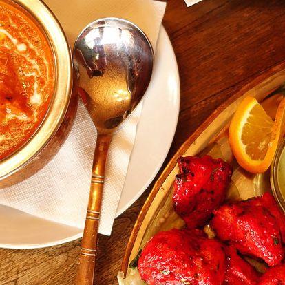 Indické menu: předkrm, hlavní chod i dezert
