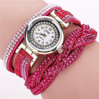 Vícevrstvé hodinky s kamínky - 11 barev