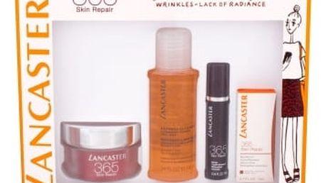 Lancaster 365 Skin Repair dárková kazeta proti vráskám pro ženy denní pleťová péče SPF15 50 ml + péče o oční okolí 3 ml + pleťové sérum 10 ml + čisticí pleťová voda 3v1 100 ml