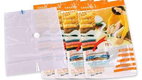 3 nebo 4 ks vakuových pytlů v různých velikostech pro uskladnění prádla