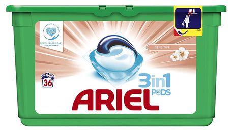 ARIEL Sensitive 3v1 Gelové Kapsle - 36 praní