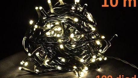 Nexos 4266 Vánoční LED osvětlení 10m - teple bílé, 100 diod