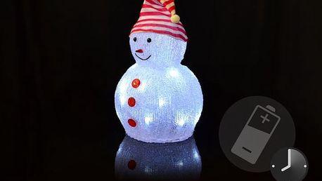 Nexos 5942 Akrylový svítící sněhulák je výbornou volbou pro teplé i chladné zimní počasí.