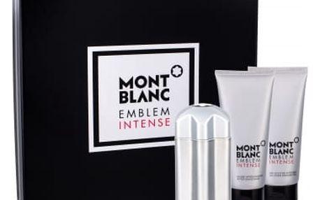 Montblanc Emblem Intense dárková kazeta pro muže toaletní voda 100 ml + balzám po holení 100 ml + sprchový gel 100 ml