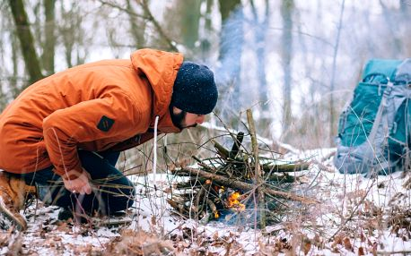 Dvoudenní kurz přežití v přírodě v zimě