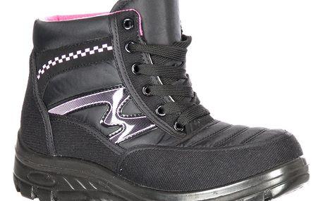 Road Star Růžové černé celoroční trekingové dámské boty