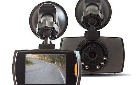 Kamera do auta Car Camcorder v šedé barvě se širokým pozorovacím úhlem