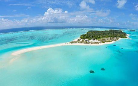 Maledivy - Atol Ari na 9 až 10 dní, polopenze nebo snídaně s dopravou letecky z Prahy přímo na pláži