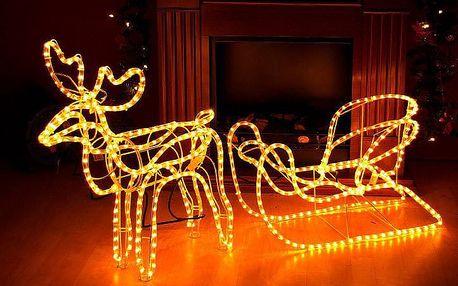 Nexos 29211 Svítící vánoční sob - LED světelná dekorace - 140 cm 336 LED