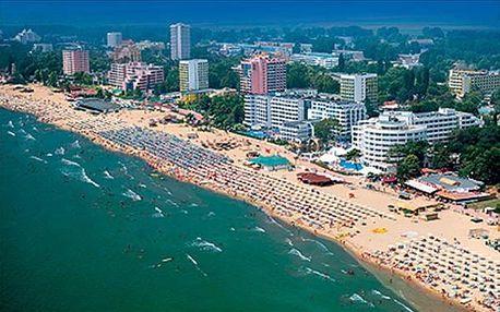 Bulharsko - Slunečné Pobřeží na 8 až 10 dní, all inclusive nebo polopenze s dopravou letecky z Prahy 250 m od pláže