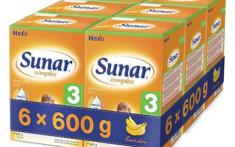 6x SUNAR Complex 3 BANÁN (600 g) – kojenecké mléko