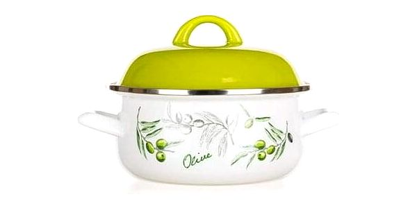 Banquet Kastrol smaltovaný Olives 22 cm , 22 cm