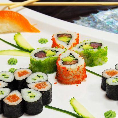 Sushi sety s až 51 ks v restauraci v centru