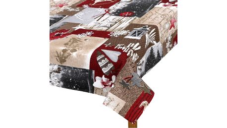 Bellatex Ubrus Zasněžené Vánoce, 120 x 140 cm