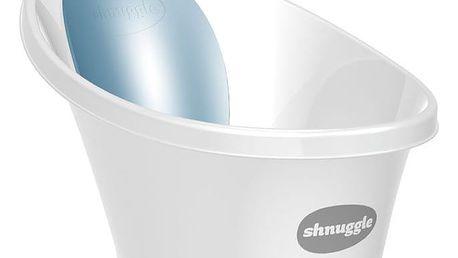 SHNUGGLE Vanička bílá s modrou opěrkou