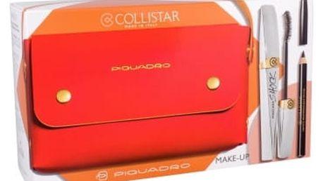 Collistar Shock dárková kazeta pro ženy řasenka 8 ml + tužka na oči 2 g Black + kabelka Black Shock