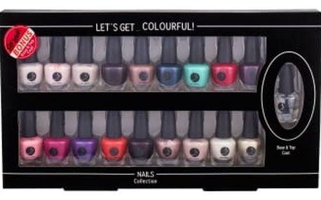 2K Let´s Get Colourful! dárková kazeta pro ženy lak na nehty 19x 3,5 ml