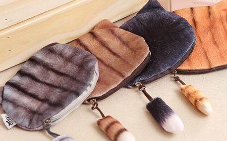 Jemné kočičkové peněženky s ocáskem: 4 varianty
